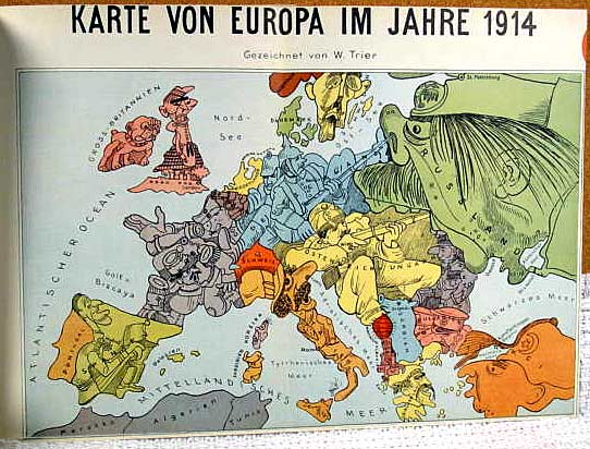 Consider this 1914 German map of Europe, the Germans (in blue) and their